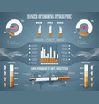 cigarette and smoking infographic concept vector image
