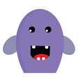 a happy purple monster or color vector image