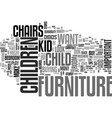 a quick guide to children s furniture for the vector image vector image