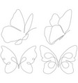 abstract butterflies consist with lines vector image