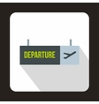 Airport departure sign icon flat style vector image vector image
