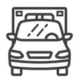 ambulance line icon transport and vehicle vector image vector image