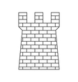 Ancient brick defense tower thin line icon vector image vector image