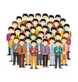 asian men community concept in flat style vector image vector image