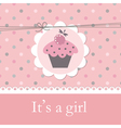Baby shower with cupcake vector image
