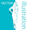 Background with business woman vector image vector image