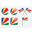 badges with flag of Seychelles vector image