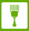 bar code scanner icon green vector image vector image