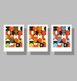 bauhaus geometric graphic design posters vector image