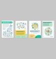 biodiversity brochure template layout vector image vector image