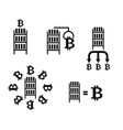 bitcoin cryptocurrency extraction and exchange vector image vector image