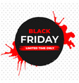black friday sale banner with ink brush vector image vector image