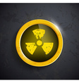 button with the sign of the radioactivity vector image vector image