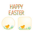 buttons happy easter easter chicks vector image vector image