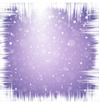 christmas snowflakes and icicles vector image vector image