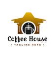 coffee shop house logo vector image vector image