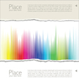 Colorful torn paper vector image