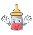 crazy nassal drop mascot cartoon vector image