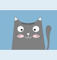 cute fun cat cartoon character sitting vector image