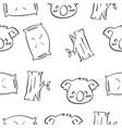 cute koala hand draw pattern style vector image