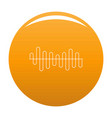 equalizer volume sound icon orange vector image vector image