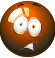 Fearful facial expression emoticon vector image vector image