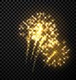 Festive gold firework background vector image vector image