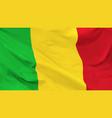 flag republic mali vector image