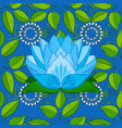 gentle summer floral on blue green and neutral vector image