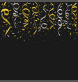 golden and silver confetti vector image vector image