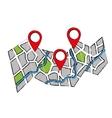 GPS map location vector image vector image