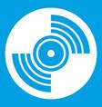 gramophone vinyl lp record icon white vector image vector image