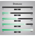 green lights internet download bars set eps10 vector image