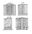 Hand drawn multistorey houses vector image vector image