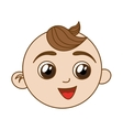 happy baby face icon image vector image