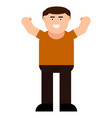 happy man icon vector image vector image