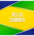 Hello summer Geometric background vector image