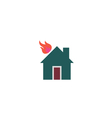 Home fire Icon vector image vector image