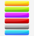 horizontal blank button banner backgrounds set of vector image