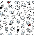 Human cartoon emoticon pattern with blue eyes vector image