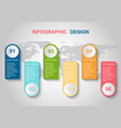 infographic design template with elements vector image vector image