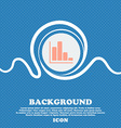 Infographic icon sign Blue and white abstract vector image