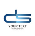 initial letter ds logo design template element vector image vector image