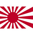 japanese flag vector image vector image