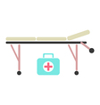 medical trolley and suitcase vector image vector image