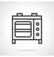 Microwave oven black line icon vector image