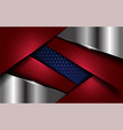 modern abstract red and blue combine with silver vector image vector image
