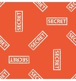 Orange SECRET stamp pattern vector image