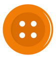 orange sewing button icon isolated vector image vector image