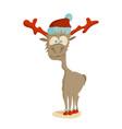 outline sketch of christmas reindeer vector image vector image